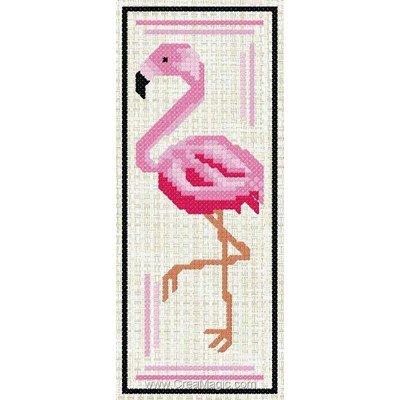 Marque-page à broder flamant rose de Luc Création