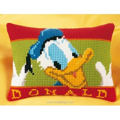Coussin Vervaco au point de croix donald duck disney