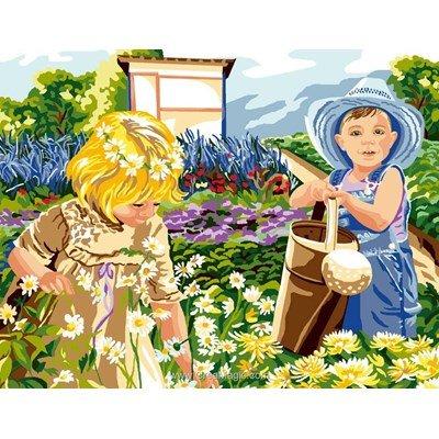 Une journée au jardin canevas de Luc Création