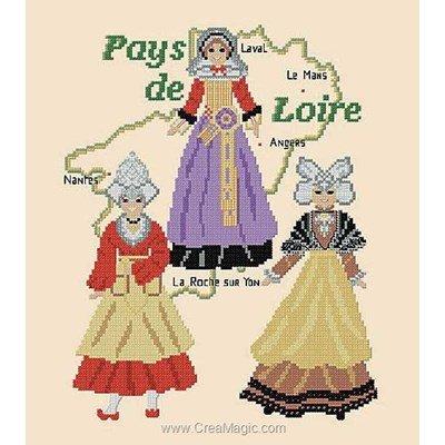 Broderie modele point de croix Catherine Debusne costumes des pays de loire