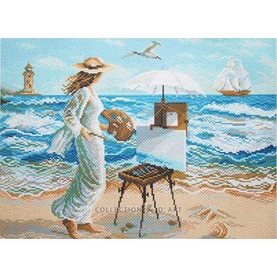 Kit broderie aida imprimée artiste peintre de Collection d'art