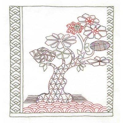 Broderie traditionnelle en kit stitch thérapie: niwaki - senteur boisée de DMC