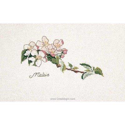Point de croix à broder Thea Gouverneur apple blossom sur lin