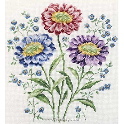 Kit broderie traditionnelle Princesse les reines marguerites