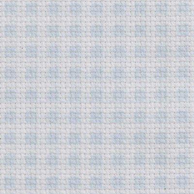 Toile aida 5.5 pts imprimée bleu carreaux vierge à broder - DMC