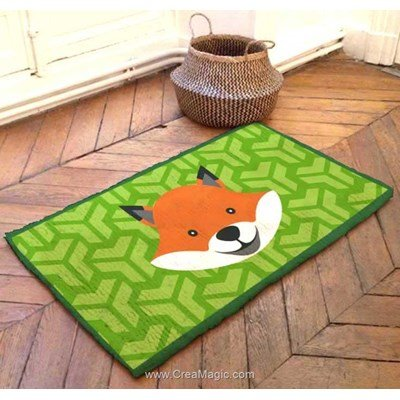 Kit tapis point noué le renard mosaique - Smyrnalaine