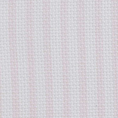 Toile aida 5.5 pts imprimée rose rayures - DMC vierge à broder