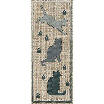 Marque-page à broder silouhette de chat de Luc Création