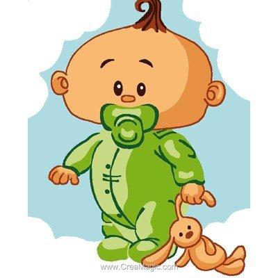 Kit canevas pour enfants bébé houpette de Luc Création