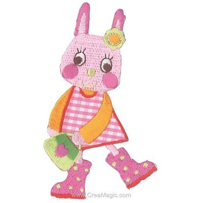 Ecusson motif thermocollant lapin patch - MLWD