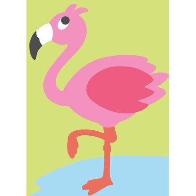 Kit canevas a broder pour enfants le flamant rose - DMC