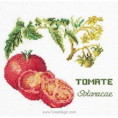Kit tableau point de croix Thea Gouverneur tomates sur lin