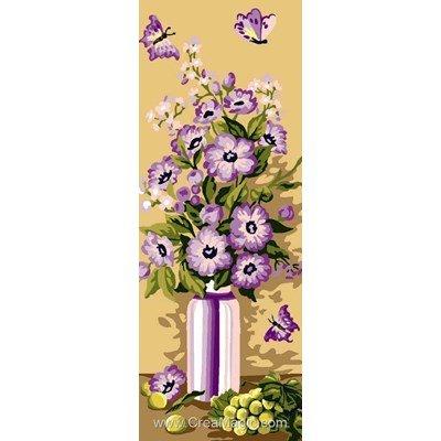 Bouquet violet canevas - Luc Création