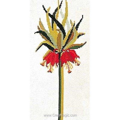 Crown imperial sur lin point de croix - Thea Gouverneur