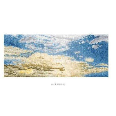 Kit à broder de Thea Gouverneur au point de croix le ciel bleu sur aida