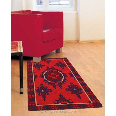 Tapis point noue calife red de Smyrnalaine