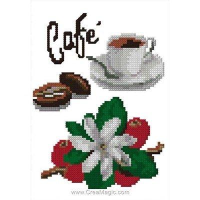 Mon café kit point de croix - Luc Création