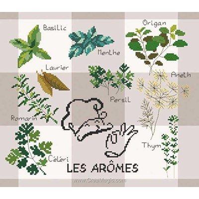 Les arômes kit broderie - Marie Coeur