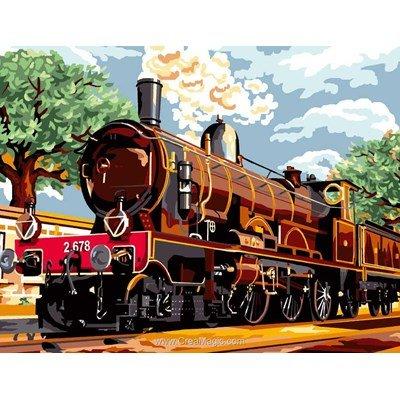 Train à vapeur canevas de Luc Création