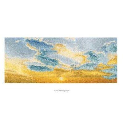 Coucher du soleil sur aida broderie point compté - Thea Gouverneur
