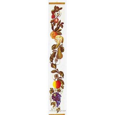 Broderie point compté fruit bell pull sur aida - Thea Gouverneur