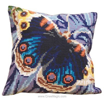 Coussin papillon magique de Collection d'art au point de croix
