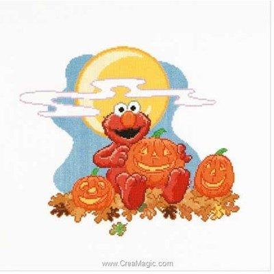 Sesame street halloween sur aida modèle broderie - Thea Gouverneur