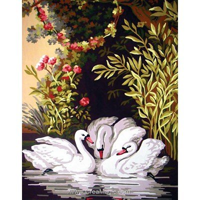 Collection d'art canevas cygnes