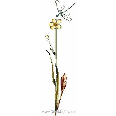 Buttercup sur lin kit à broder point de croix - Thea Gouverneur