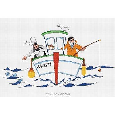 Drôle de pêche - breton- mam'goudig kit au point de croix compté - Marie Coeur
