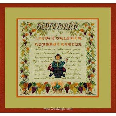 Broderie au point de croix point compté saison : le mois de septembre de Le Bonheur Des Dames