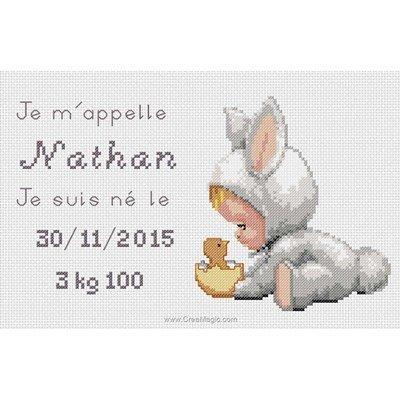 Broderie tableaux prénom nathan - Mimo Verde