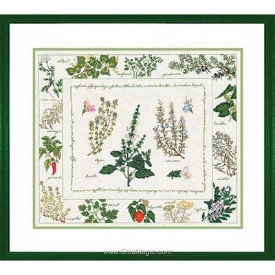 Les herbiers broderie au point de croix compté - Le Bonheur Des Dames
