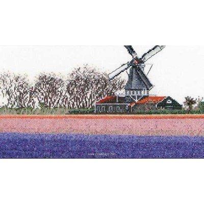 Broderie au point de croix Thea Gouverneur bulbfield hyacinths sur aida