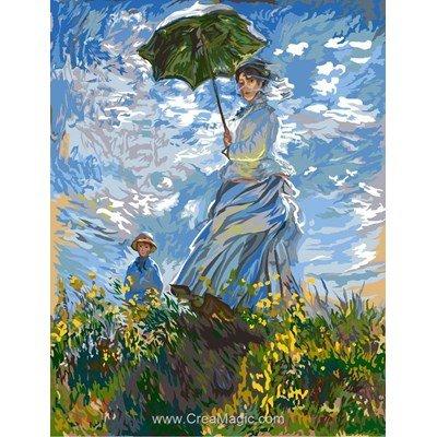 Femme à l'ombrelle d'après monet canevas - Margot