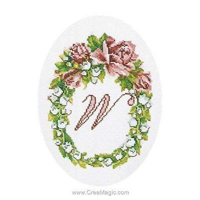 Kit à broder de Thea Gouverneur au point de croix poetry letter lilly sur lin