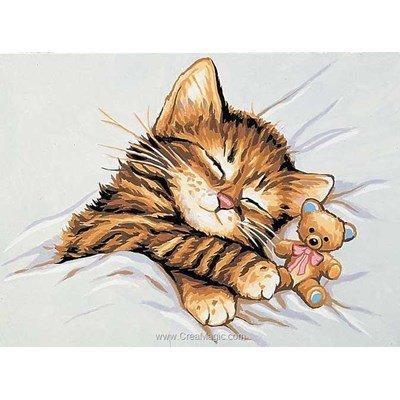 Kit canevas Royal Paris pour enfant chaton au nounours