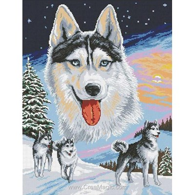 Kit broderie diamant husky - Diamond Painting