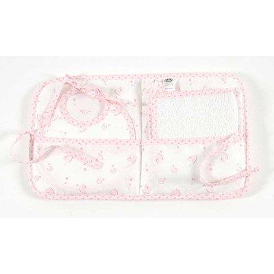 Bavoir bébé pochette cadeau : bavoir naissance + serviette inclus baby star - rose à broder - DMC