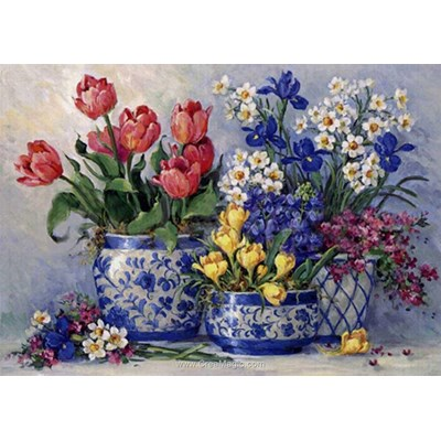Broderie diamant Diamond Painting flowerbed