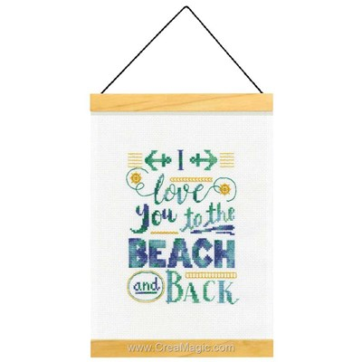 To the beach and back broderie au point de croix - Dimensions