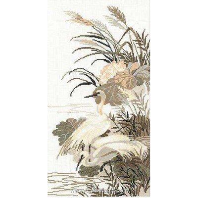 Kit à broder de RIOLIS au point de croix herons