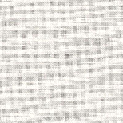 Toile lin newcastel 16 fils blanc cassé (101) de Zweigart à broder