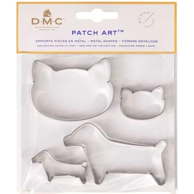 Emporte pièces chien et chat pour le patch art - DMC