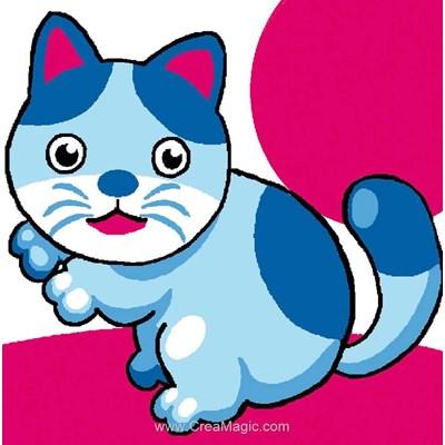 Kit canevas débutant chaton bleu de Luc Création