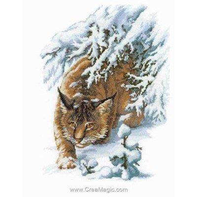 Broderie au point de croix RIOLIS lynx