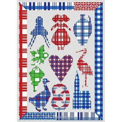 Alsace kelch sur lin - toile lin kit à broder point de croix - Anagram