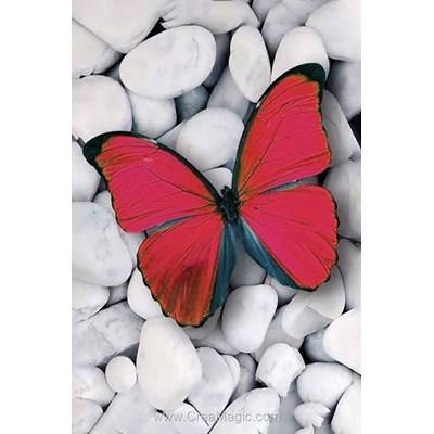 Kit broderie diamant pink butterfly de Wizardi