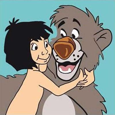 Kit canevas DMC pour débutant mowgli et baloo - disney