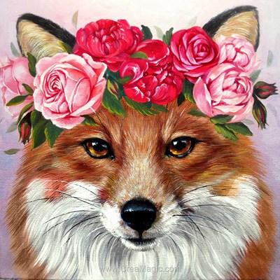 Broderie diamant foxy lady - Wizardi
